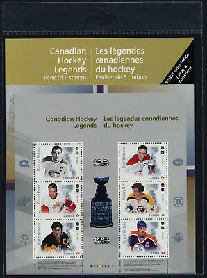 Canada 3026 in Pack MNH NHL Canadian Hockey Legends, Ice Hockey