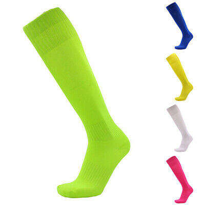 Non-slip Plain Football Socks Soccer Hockey Rugby Sports Sock for Mens/Womens