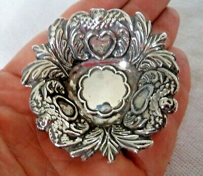 Victorian 1898 Solid / Sterling Silver Angel Motif Dish