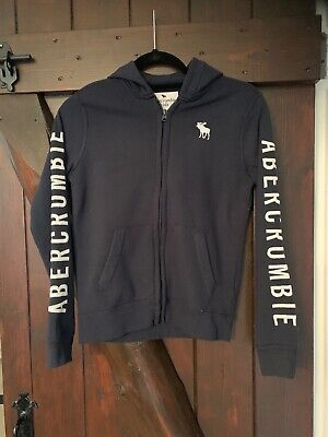 Boys Abercrombie And Fitch Hoody, Age 11-12, Navy, Hardly Worn.