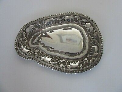 Excellent Antique Sterling Silver Indian or Ceylon Pin Tray Or Dish