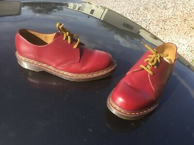 Dr Martens 1461 oxblood leather shoes UK 12 EU 47 Made in England