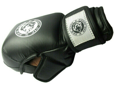 MMA Gloves Grappling Sparring Punch Bag UFC Cage Fight Gel Muay Thai Pad Boxing