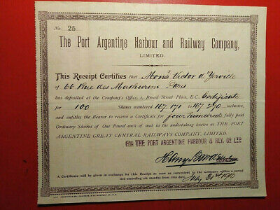 The Port Argentine Harbour And Railway Company 1910