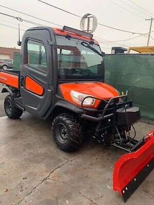 ENCLOSED Kubota RTV - X 900 WITH HYDRAULIC BRAND NEW NEVER USED WESTERN  V PLOW