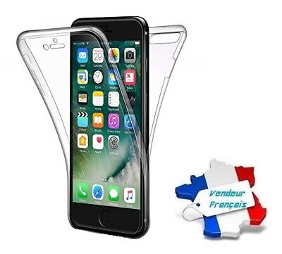Coque Cristal Silicone Gel Protection Intégrale 360° pour iPhone 7 / iPhone 8