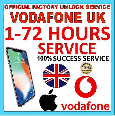 UNLOCK FOR iPhone 11 XS X 8 Plus 8 7s Plus 7s 7 Plus 7 Vodafone UK ONLY IMEI