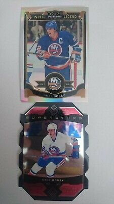 2015-16 15-16 Opc Platinum superstar die cut and rainbow Mike Bossy lot of 2