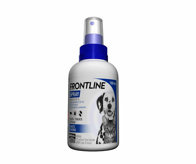 FRONTLINE Spray  Anti-puces  Anti-tiques Pour Chiens Chiots Chats Chatons 100 ml