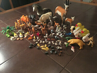 Vintage 92 Piece Lot of Miniature Plastic Animals #8
