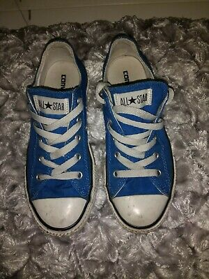 Converse All Star Trainers Sneakers Low Top Shoes Size UK 1 EUR 33 Blue Unisex