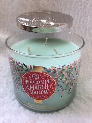 Bath /& Body Works Marshmallow Fireside 3 Wick Candle ~ LOT OF 2 ~ Ships Free!!!