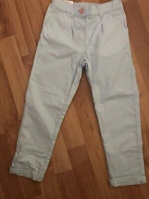 Girls  New Next Light Blue Chinos Age 4/5yrs