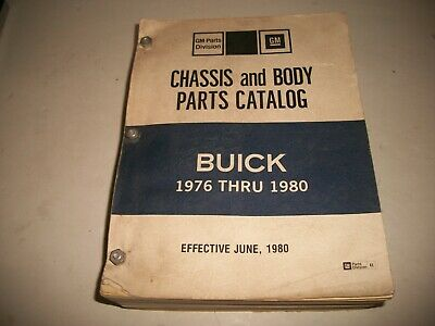 1976 1977 1978 1979 1980 Buick Chassis & Body Parts Illustrated Parts Catalog