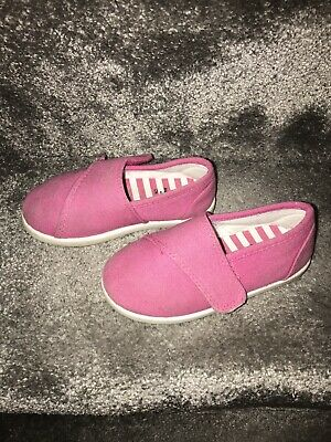 Mothercare Girls Lovely Pink Trainers Size 6