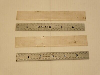 "2 - 6"" STEEL RULES / SCALES - machinist toolmakers tools - Center Line"