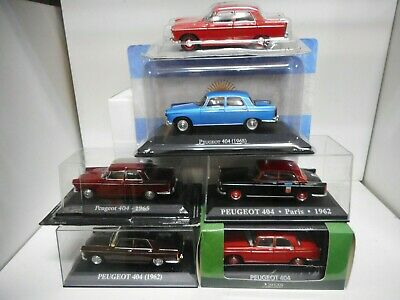Peugeot 404 Marron Rouge Bleu Taxi Paris Rba Atlas Ixo 1:43