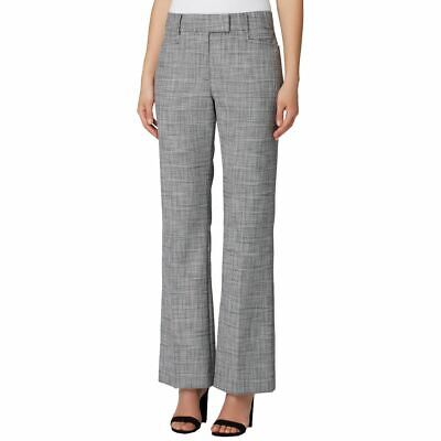 TAHARI ASL NEW Women's Gray/pink Petite Plaid Textured Casual Pants 16P TEDO