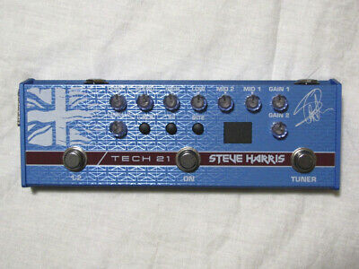 Used Tech 21 Steve Harris Signature Sansamp Bass Guitar Preamp Pedal