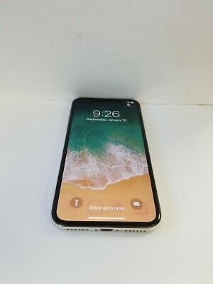 Apple iPhone X 64gb Silver A1865 (Unlocked) Great Phone Discounted NW2977