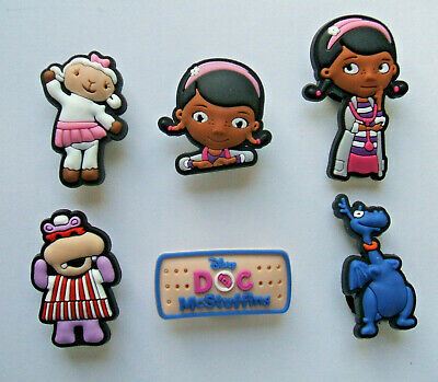 SHOE CHARMS (W3) - CARTOON CHARACTERS inspired by DOCTOR (6DMS) pack of 6