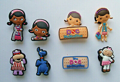 SHOE CHARMS (W3) - CARTOON CHARACTERS inspired by DOCTOR (8DMS) pack of 8