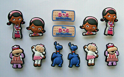 SHOE CHARMS (W3) - CARTOON CHARACTERS inspired by DOCTOR (12DMSB) pack of 12