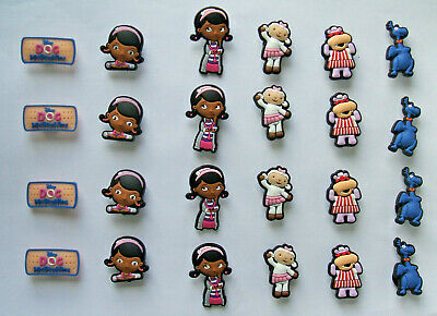 SHOE CHARMS (W3) - CARTOON CHARACTERS inspired by DOCTOR (24DMSB) pack of 24