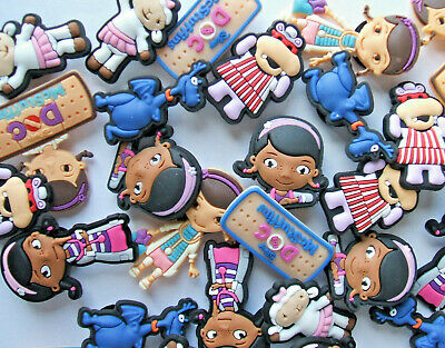 SHOE CHARMS (W3) - CARTOON CHARACTERS inspired by DOCTOR (32DMS) pack of 32