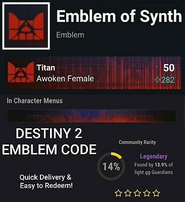 Destiny 2 Emblem of Synth Code - PS4/Xbox/PC - Fast code delivery!