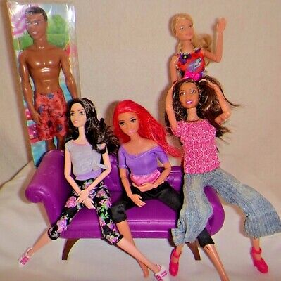 Barbie fashionista muti jointed 4, all new including fashions Ken still boxed