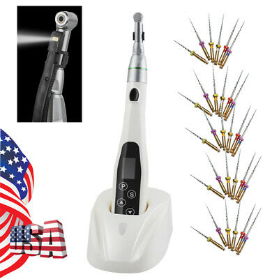 Mini Dental Endodontic LED Endo Motor Treatment Reduction Contra Angle +30 Files