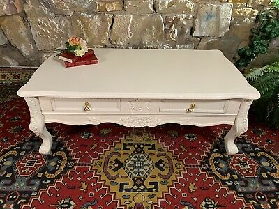 Stunning Vintage French Provincial Coffee Table~Drawers~Hamptons~Plasma Stand