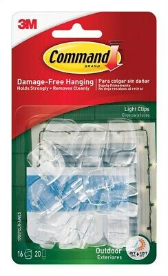 3M 0.5 in. L Clear Plastic Cord Clips (Pack of 4)