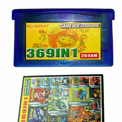 369 in 1 Games Cartridge Multicart Card for GBA NDS GBA SP GBM NDS NDSL Parts