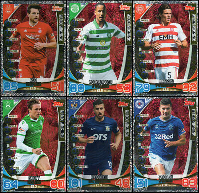 Spfl Match Attax 2019/20 Full Set Of Six (6) Star Signing Trading Cards 19/20