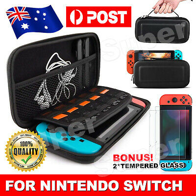 For Nintendo Switch Carry Bag Storage Case Console Protect Shell Tempered Glass