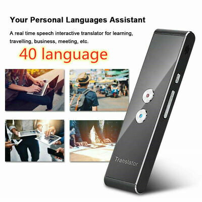 Portable Smart Wireless 2-Way Real Time Multi-Language Instant Voice Translator