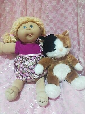 Cabbage Patch Playalong freckles poodle hair vintage toy