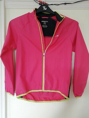 Girls Pink CRAFT Sports Waterproof Jacket Age 10-12 Years
