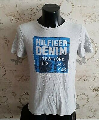 Tommy Hilfiger Boys 176cm t shirt top grey organic cotton 15 yrs approx  S male