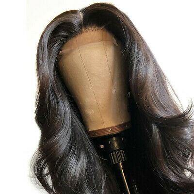 """Au stock 24"""" Lace Front Wig Natural Straight Darkest brown color Synthetic Hair"""