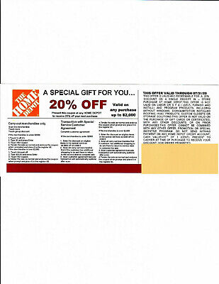 *(1)**** 20% OFF HOME DEPOT*Competitors* Coupon to use at Lowe's exp 07/31/20