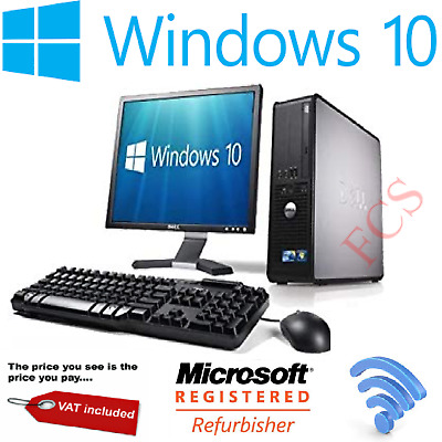 Ultra Fast Computer Pc Intel Quad Core 1Tb 8Gb Windows 10 Cheap Office With Tft