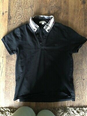 Boys Burberry Short Sleeve Polo Tshirt Age 8-9-10