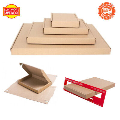 Royal Mail Brown Large Letter Cardboard Postal Mailing PiP Boxes - Mini C4 C5 C6