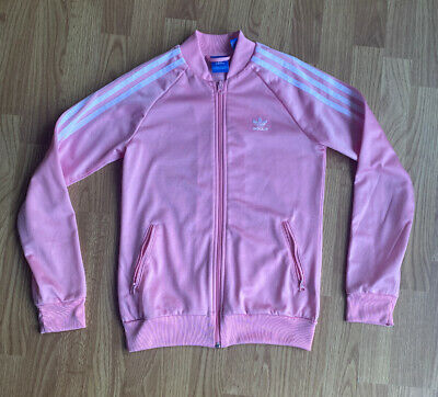 Girls Youth Pink Adidas Jacket Size 12-13 Years