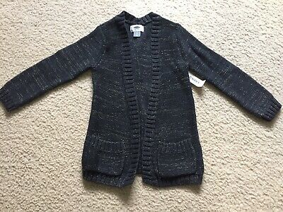 NWT Old Navy Toddler Girls Long Sleeve Charcoal Sweater Jacket Size 5T