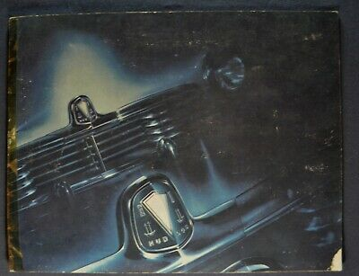 1946 Hudson Brochure Commodore Super Brougham Sedan Coupe Convertible Original