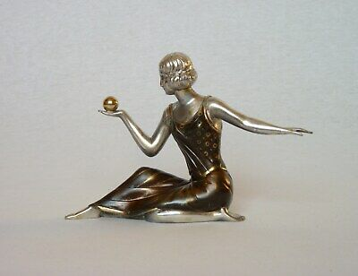 Appealing VINTAGE FRENCH ART DECO SPELTER STATUETTE from the 1930s